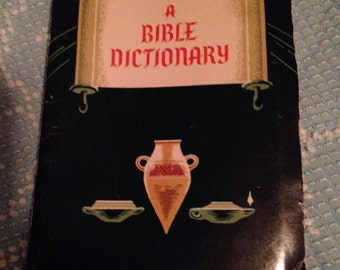 1938 BIBLE Dictionary Vintage BOOK for all ages