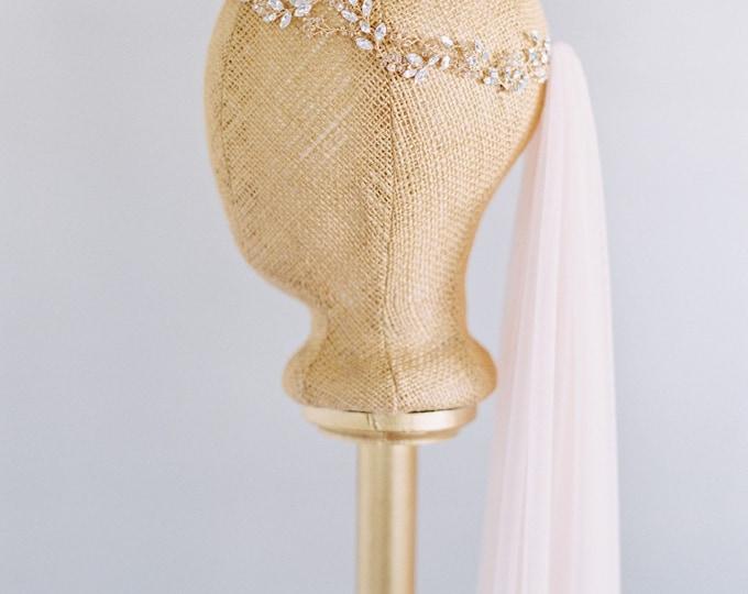 SALE Soft Nude 55 Inch Little Something Bridal Veil 0801 EN