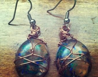 Artist pencil earrings