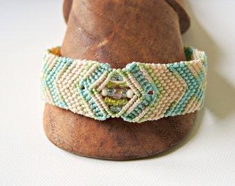 Textured Macrame Bracelet - Micro Macrame Bracelet - Soft Colors - Macrame Bracelet