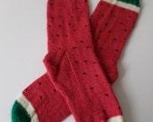 Custom Order for The Colonial Gal - Watermelon Socks