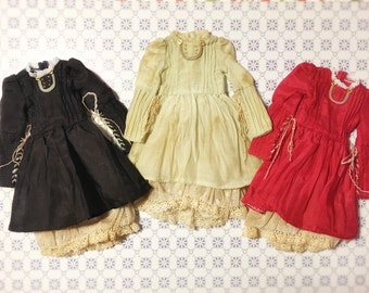 Jiajia Doll limited Andy's dress - Red or Vintage green or black dress fit momoko or misaki or blythe