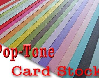 POP TONE 65 lb cardstock 8 .5 x 11 25 pk