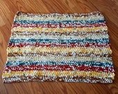 Eco Friendly Recycled Earth Colored Plastic Bag Rug