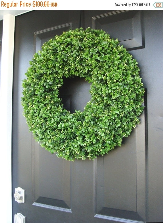Wreath sale realistic 20 inch faux boxwood wreath sizes 14 to 30