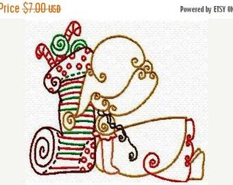 SALE 65% off Christmas Sunbonnet Sun Bonnet Sue Color Lines Machine Embrodiery Designs Instant Download Sale
