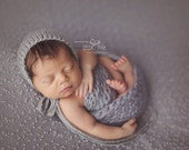 Newborn Simple Knit Rounded Back Baby Bonnet Photo Prop Made to Order Choose Color