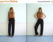 30% off ... Black Crease Front High Waist Secretary Trouser Pants Vintage 90s SMALL S