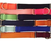 """1"""" Solid Nylon Martingale Collar - Pick Your Color"""
