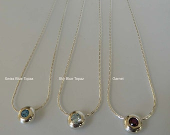 Topaz Garnet blue red gemstone pendants