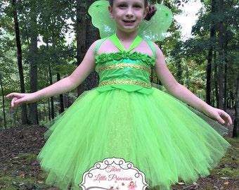 Deluxe Tinkerbell Tutu Dress  - Tinkerbell Costume - Tinkerbell Dress