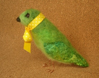 Fanciful Finch Needle Felt, Small