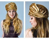 THE GOLD COLLECTION | 60s *designer* Christian Dior gold velvet turban