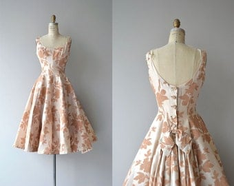 Mam'selle silk dress | vintage 1950s dress | silk floral 50s dress
