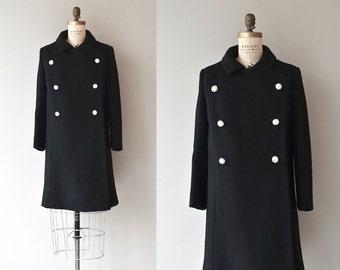 Bonwit Teller coat | vintage 1960s coat | black wool 60s coat