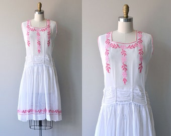 Tendress dress | vintage 20s dress | cotton 1920s dress