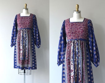 Spirit Journey dress | vintage 1970s dress | bohemian Indian cotton 70s dress