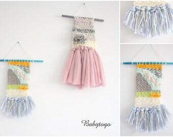 Handmade woven wall hanging, weaving wall art