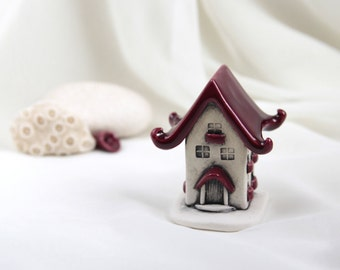 Strawberry ruby red House of tiny fairies - Hand Made Ceramic Eco-Friendly Home Decor by studio Vishnya