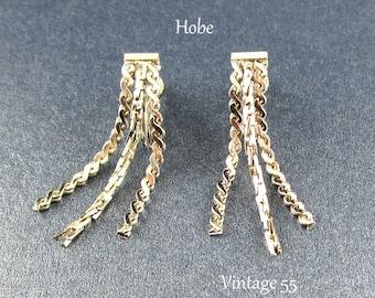 Earrings Hobe Silver tone chain drop clip on