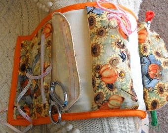 Pumpkins Armchair Sewing Caddy, Hand Sewing Organizer