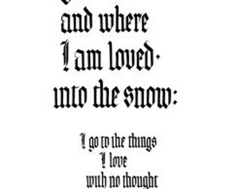 """I Go Where I Love - H.D. - print from hand lettering -  8.5""""x11"""""""