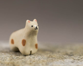 Little Llama - Terrarium Figurine - Miniature Ceramic Porcelain Animal Sculpture - Hand Sculpted