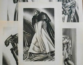 Lynd Ward Collection, Set of 5 1930s vintage Graphic Art prints, Deco wood engravings,  wall art, decor