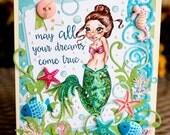 Magical Mermaid Handmade Greeting Card