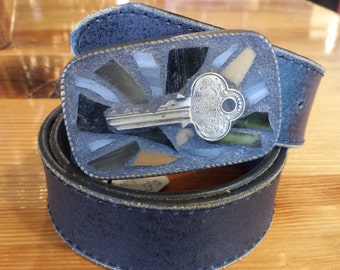 Vintage Key Mosaic belt buckle
