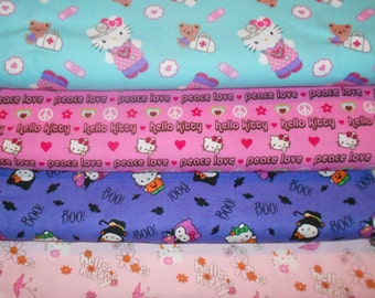 HELLO KITTY #6  Fabrics, Sold INDIVIDUALLY not as a group, by the Half Yard