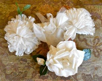 Antique 1950's White Flowers