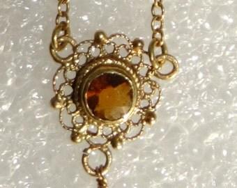 Antique 14k Gold  Necklace Choker Ca: 1885-1910
