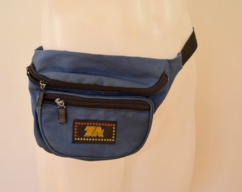 Vintage TA Fanny Pack blue 3 pocket