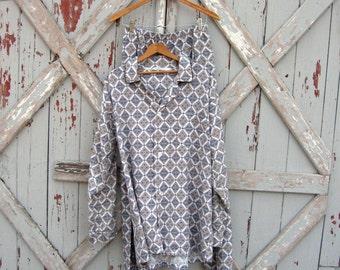 Papa - vintage mens flannel pajama set XL XXL