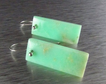 20 % Off Modern Chrysoprase With Sterling Silver Earrings