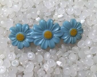 vintage  barrette blue  daisy, choldren barrette