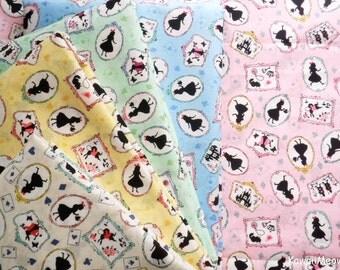 Scrap / Japanese Fabric -Alice in Wonderland  5 pieces (865)