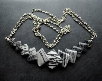 Necklace/Pendant - Zebra Jasper - multifunctional, modern, unique, art to wear, ooak, contemporary - by Schneider Gallery