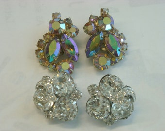 2 pair vintage weiss earrings  ( B 92 )