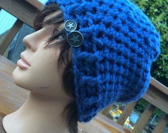 Blue Crocheted Hat 76/15