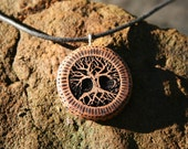 Madrone Wood Tree of Life Necklace-- Wooden Jewelry,