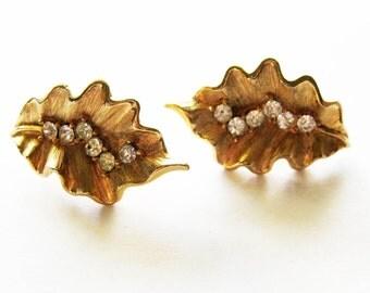 Vintage Trifari Rhinestone Earrings