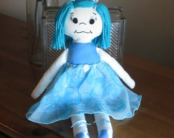 Ballerina Doll plush toy in Blue tutu  - Soft and huggable