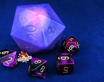 D20 Die Soap with Purple Die Inside | D20 soap | Tabletop Gaming Soap | Dungeons and Dragons Soap | MtG D&D