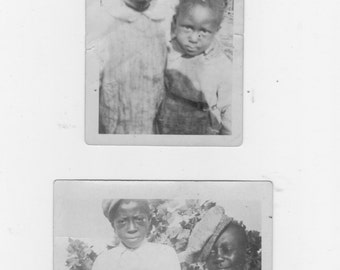 2 Original 1920s  photo. of 4  African Americans boys