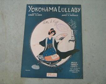 1921  vintage sheet music (  Yokohama Lullaby  )