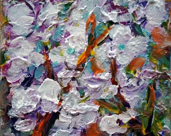 Orchid Flowers Abstract Floral Original Painting Oil on Canvas Black Friday Sale