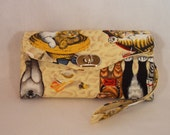 Necessary Clutch Wallet-Sleeping Cats Wallet-Smartphone Wallet-Accordian Style Clutch Wallet-Multi-Purpose Wallet