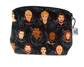 Zippered NOTIONS BAG with zipper pull -  Star Trek - Engage